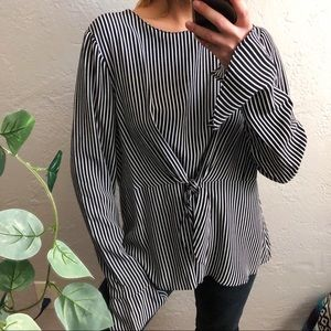 NWT zara trafaluc collection striped blouse